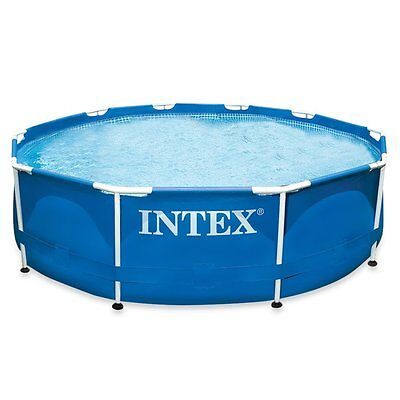 "Intex Metal Frame Pool 10ft x 30"" No Pump - 28200"