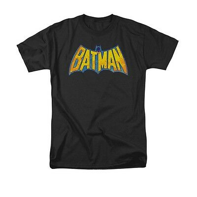DC COMICS BATMAN NEON DISTRESS LOGO Licensed Adult Men's Graphic Shirt SM-6XL](Adult Batman Shirt)