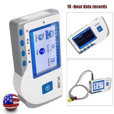 Portable Handheld Lcd Ecg Ekg Heart Beat Rate Monitor Machine Single Channel Ecg