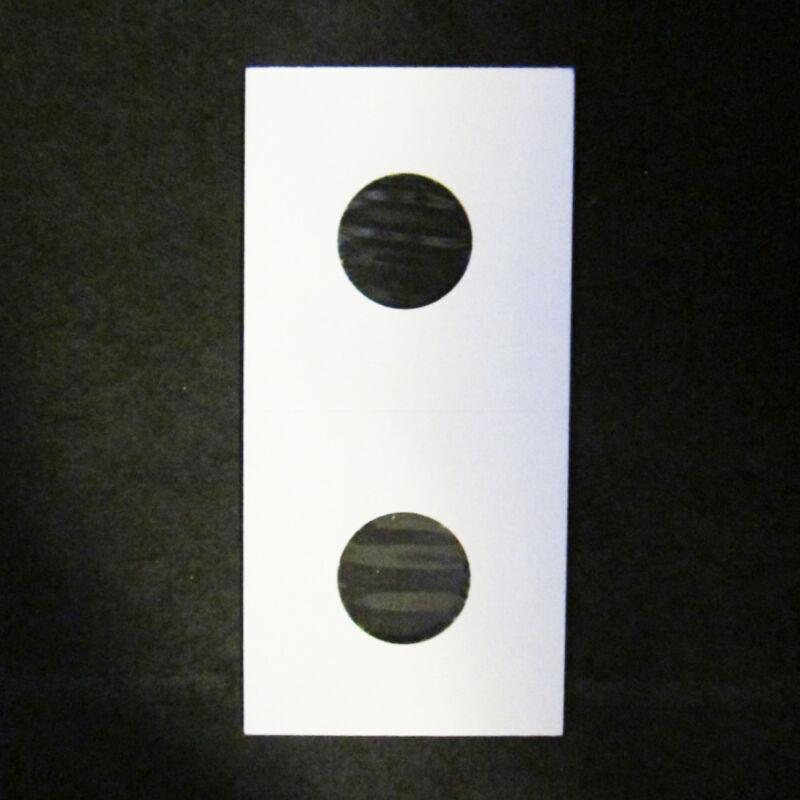 (1000) Penny Size 2x2 Mylar Cardboard Coin Flips for Storage | 1 Cent Bulk