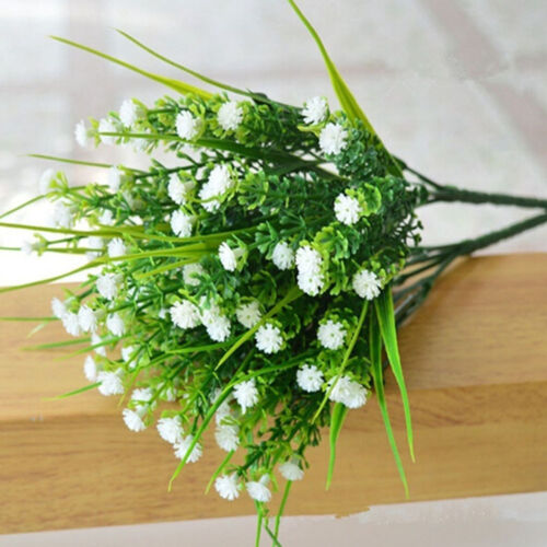 Home Decoration Green Fake Plants Artificial Grass Plastic Flower Wedding