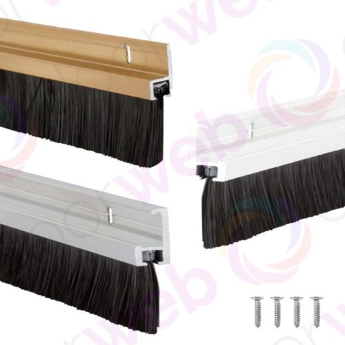 Brush strip draught excluder draft door bottom seal for Door draught excluder