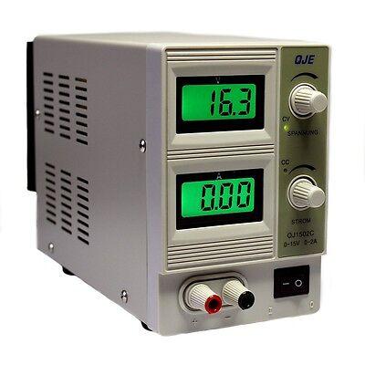 Regelbares DC Labornetzgerät 0-15V 2A Labornetzteil Netzteil Netzgerät Trafo