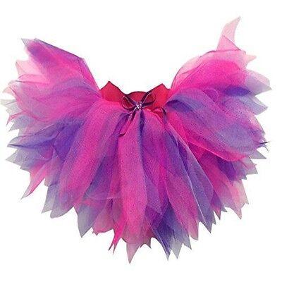Neon Tutu Skirt Pink Purple 80's Fancy Dress Hen Party Fun Run 6 Layer Plus - Plus Size Maternity Costumes