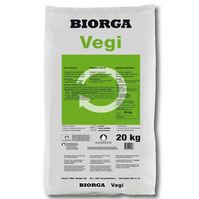 Hauert Biogra Vegi Ecológico 20kg Abono Vegetal Fertilizante Orgánico Ökodünger