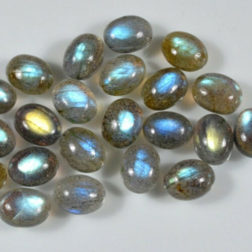 10x14 mm Oval Labradorite Cabochon Loose Gemstone Wholesale Lot 100 pcs