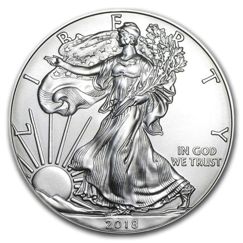 2018 1 oz American Silver Eagle GEM BU $1 Coin 1 Troy Ounce 999 Fine Silver