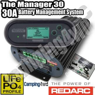 REDARC BMS1230S2 BATTERY MANAGEMENT SYSTEM CHARGER MANAGER 30
