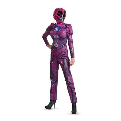 Power Rangers Movie Deluxe Pink Ranger Adult Womens Costume, 19564, Disguise](Power Rangers Womens Costume)