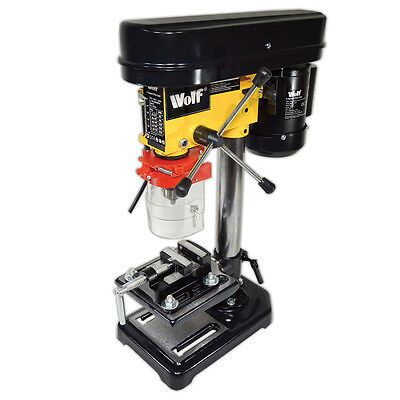 "Wolf Rotary Pillar Drill Press Bench Top Mounted Drilling 5 Speed 13mm 2½"" Vice"
