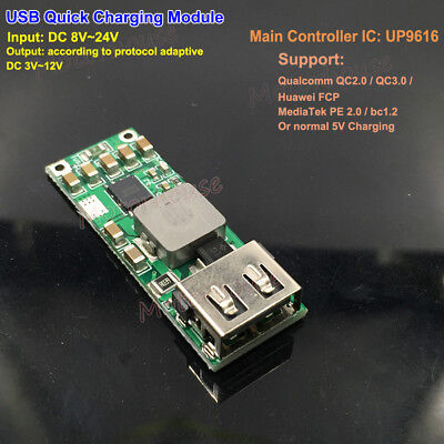 Qc3.0 Usb 5v 12v Fast Quick Charging Module Charge Adapter Diy Phone Charger Car