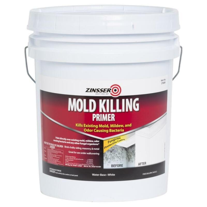 Zinsser Mold Killing Primer 5 Gal. Interior/Exterior Water Based