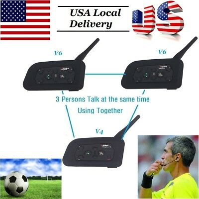 Referee Headset 2V6+V4 3 Referee talk same time Communication System comunicador