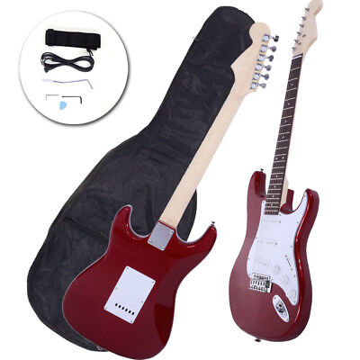 Rose Wood Fingerboard Electric Guitar Rosy +Gigbag +Cord+Strap+Accessor