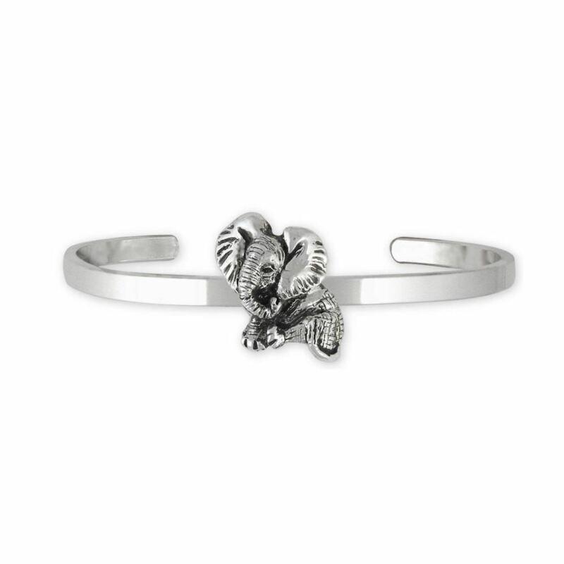 Elephant Jewelry Sterling Silver Elephant Bracelet Handmade Wildlife Jewelry EL4