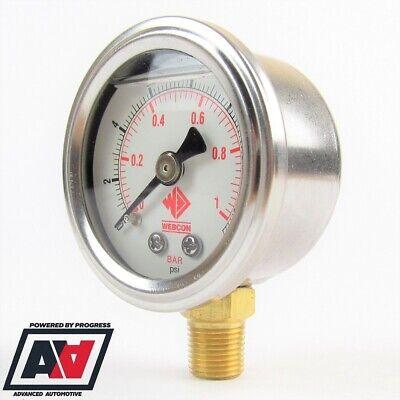 Weber Low Pressure Fuel Gauge Filter King Low Pressure Regulator 0-15psi ADV