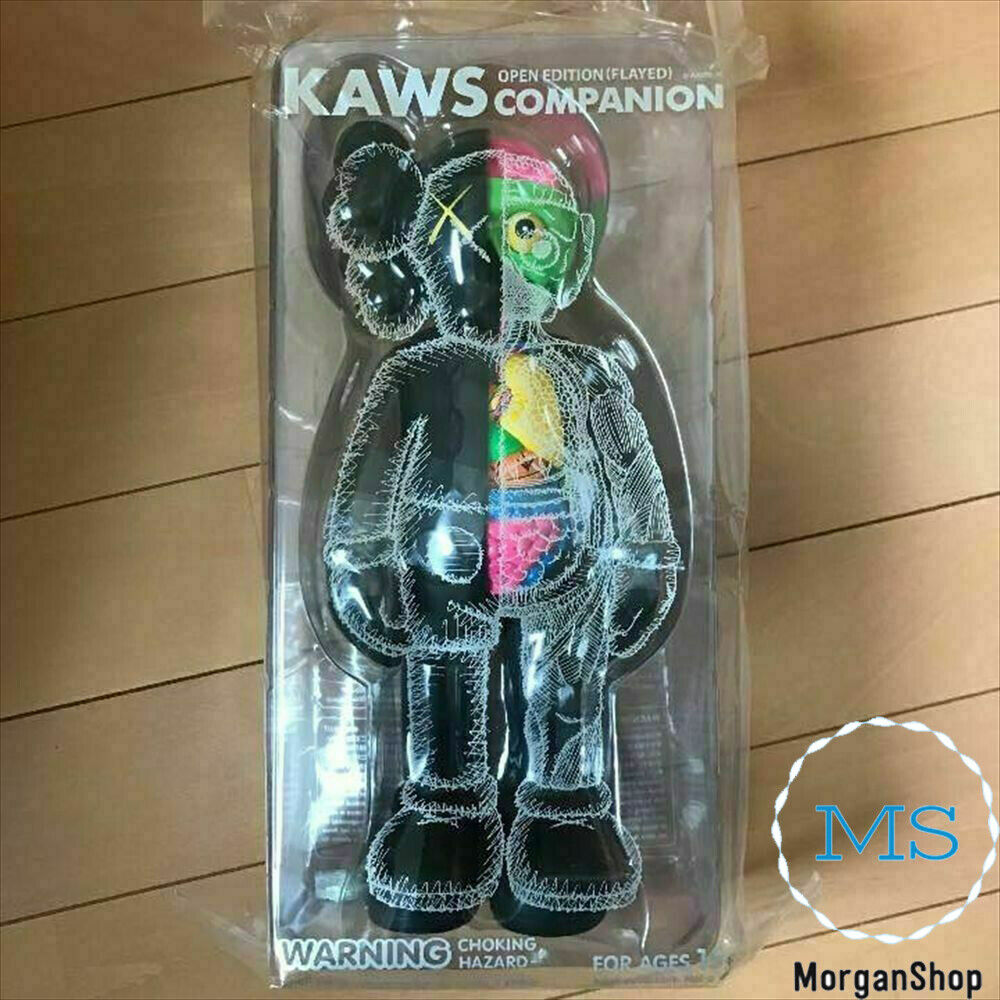 """New Black 8/"""" Half Dissected MEDICOM Toys Kaws Companion With Box FAST SHIPPING"""