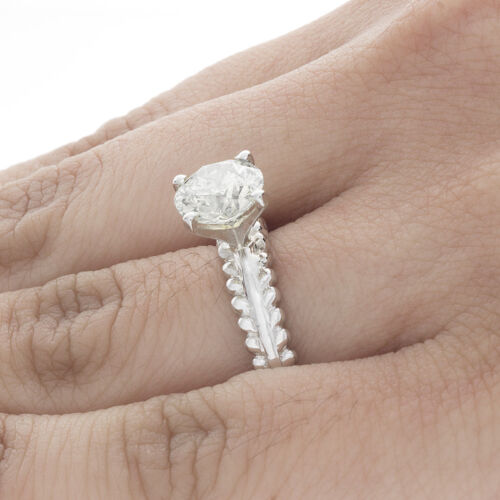 GIA Certified Diamond Solitaire Engagement Ring 1.00 Carat Round Brilliant 18k