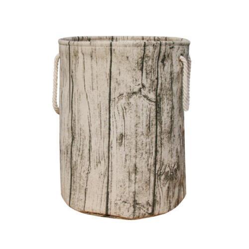 Rustic Tree Stump Shape Fabric Hamper Storage Decor Kids Nur