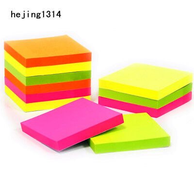 100 Sheets Self Adhesive Memo Pad Sticky School Office Notes Bookmark Notebook