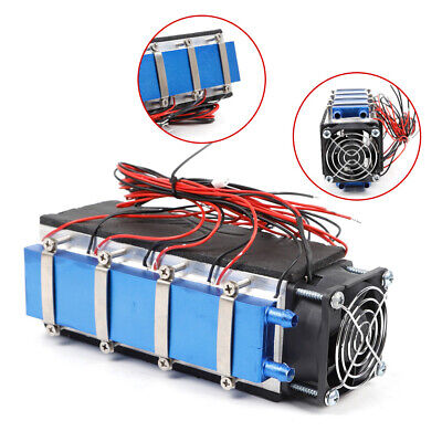 8-chip Thermoelectric Peltier Cooler Air Cooling Fan Devices Diy Kit 576w 12v