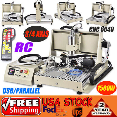 34 Axis 6040 Cnc Engraver Router Mrill Machine Usb 1.5kw Drill Cutter Rc