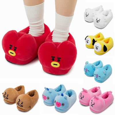 OFFICIAL BT21 PLUSH SLIPPERS LINEFRIENDS, PLUSH DOLL CHARACTER BTS AUTHENTIC