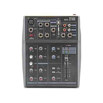 5 Channels MX5 Professional Studio Mixer USB connect with PC 3 Band EQ DJ Mixers 3 Channel Professional Mixer
