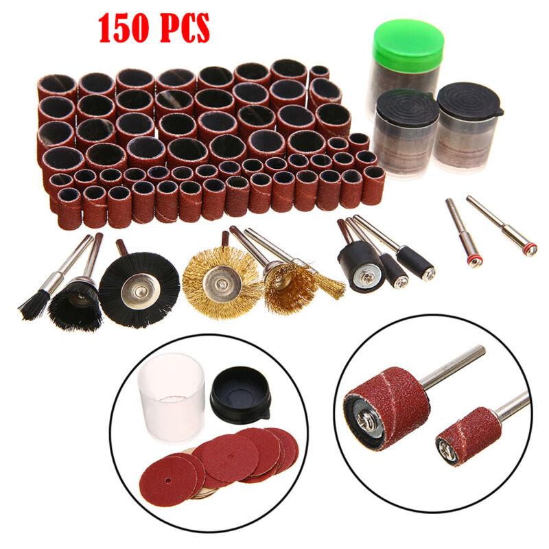 150 Piece Dremel Rotary Tool Accessories Kit Grinding Polishing Shank Craft Bits