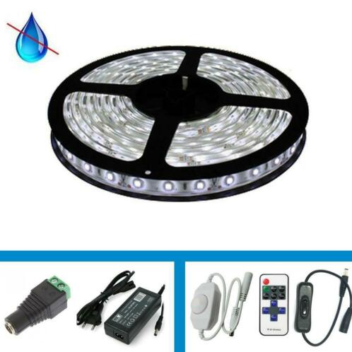 LED Strip - Kleur wit - Complete Set - 5 meter