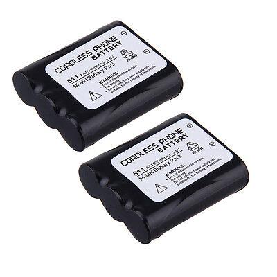 2X Home Phone Battery for P511 P-P511A TYPE 24 HHR-P402A KX-