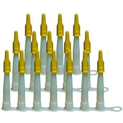 PUTECH Caulk Nozzle With Yellow Tip Caps, 16-Pack Industrial & Scientific