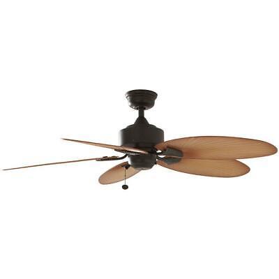Ceiling Fan Bronze Pull Chain Indoor Outdoor Mount Light Kit