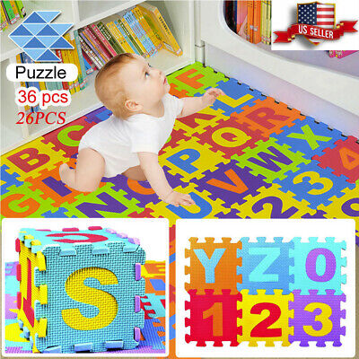 Cyber Monday❤Colorful Alphabet Numbers EVA Floor Play Mat Baby Room Foam Puzzle
