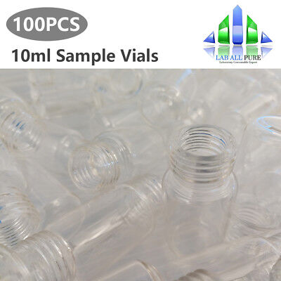 10ml Clear Glass Sample Vials 18mm Screw Top Vial Lab Bottle 100pcskit For Hplc