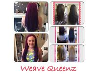 WEAVE QUEENZ GLUE FREE HAIR EXTENSIONS - TRY WEAVING! VIRTUALLY DAMAGE FREE ALTERNATIVE TO BONDING!!