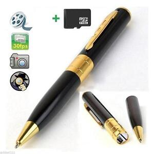 NEW HD VIDEO RECORDER SPY PEN CAM STYLO CAMERA ESPION 1280x960 1GB MINI HD DV ESPIONNAGE MINIATURE PORTABLE BODY CAM