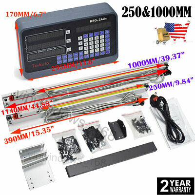 Lcd Digital Readout 3axis Dro Display Linear Scale Glass Sensor Cnc Mill 1040