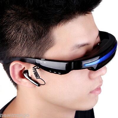 "Rechargeable 4GB 52"" Digital Wide Screen Virtual Video Glasses Eyewear Theater"