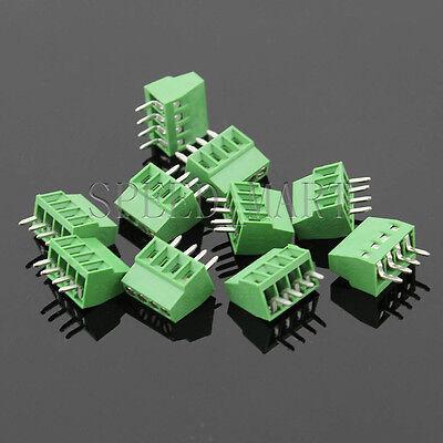 10 Pcs 4 Poles4 Pin 2.54mm 0.1 Pcb Universal Screw Terminal Block Connector