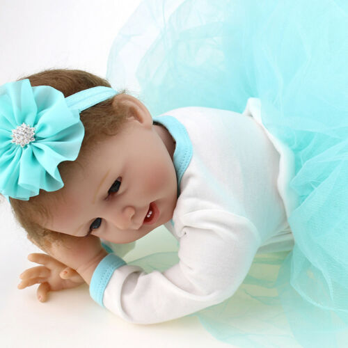"Handmade 22"" Reborn Doll Baby Girl Doll Lifelike Silicone Toddler Xmas Gifts New"