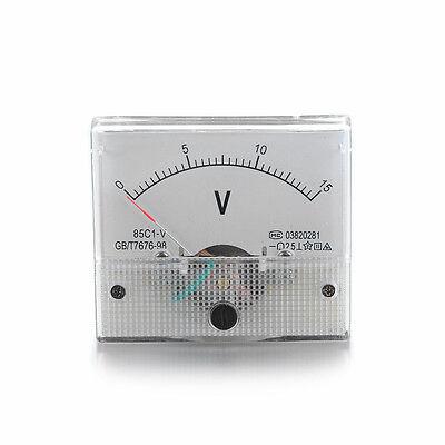 Dc 0-15v Analog Panel Voltage Volt Meter Voltmeter Gauge Tester White