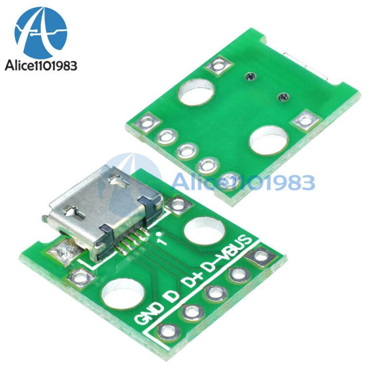 10pcs Female MICRO USB to DIP 5-Pin Pinboard 2.54mm micro USB type
