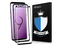Galaxy S9 Plus Screen Protector Tempered Glass,3D Glass,Curved Edge,Case Friendly,Sensitive Response