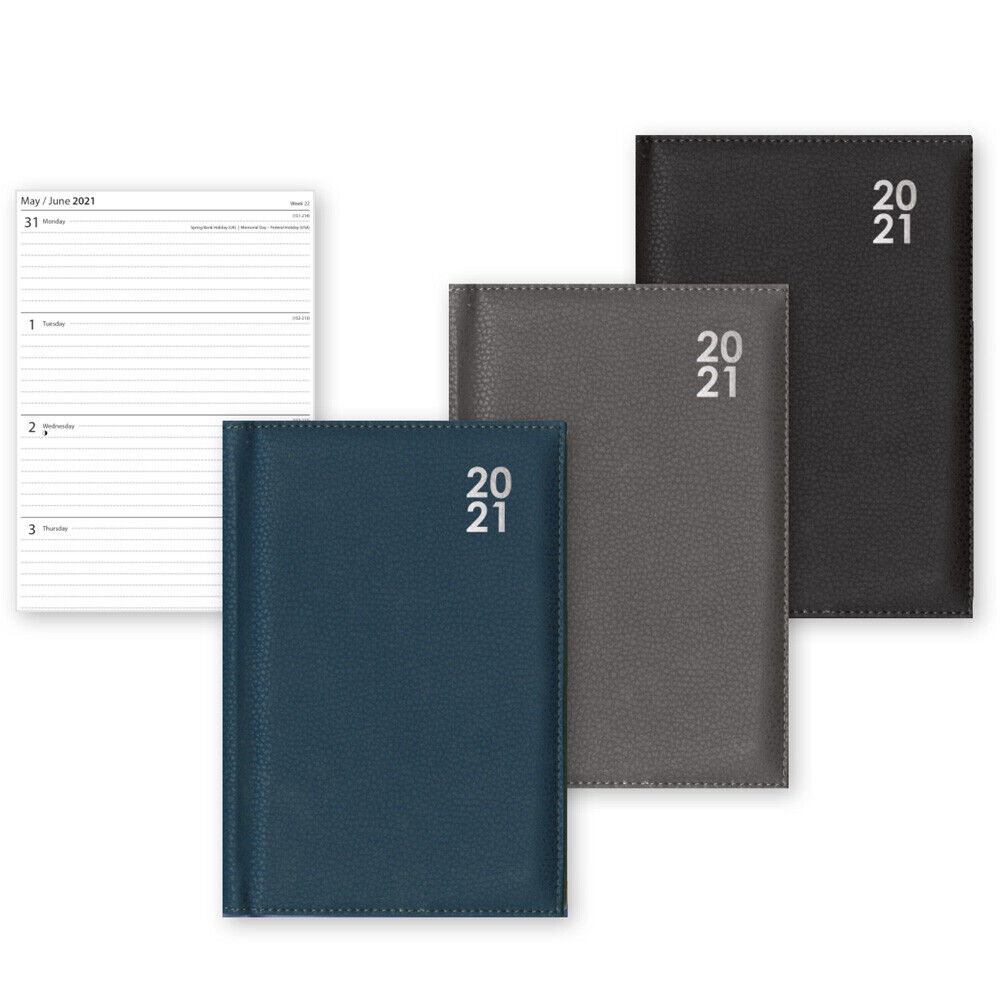 A5 A6 2021 Diary Week To View or Day A Page Desk Diary Hard Cover Dairy A4