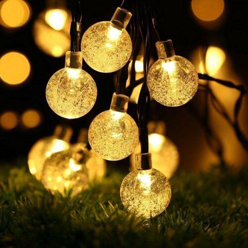 30 LED Solar Lichterkette Warm Solarleuchte Garten Dekoration Beleuchtung Kette