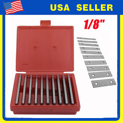 """SHARS 1/8"""" STEEL PARALLEL SET 10 PAIR PARALLELS .0002"""" HARDENED NEW AP"""