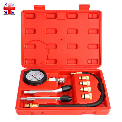 Professional Oil Pressure Gauge System Engine Diagnostic Tool Tester Meter - UK