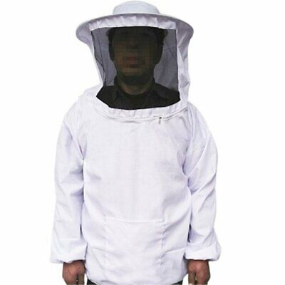 Professional Beekeeping Protect Suit Breathable Jacket Veil Hat Equipment White