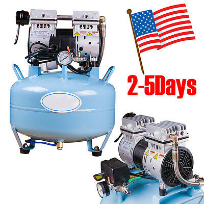 Dental Medical Silent Noiseless Oil Free Oilless Air Compressor Equipment 30l Us